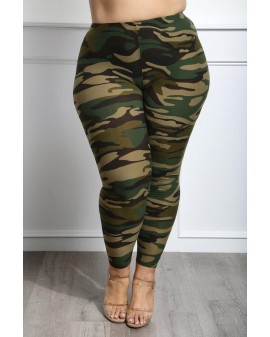 Green CAMO soft leggings