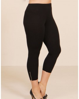 Festival zip Leggings - SVARTAR