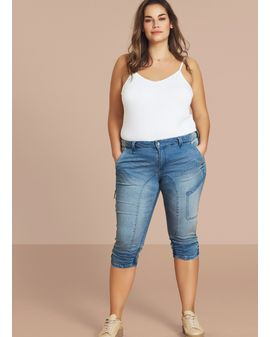 ZIZZI Capri Jeans - Light Denim