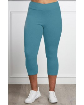 High panel KVART leggings - SEA blue