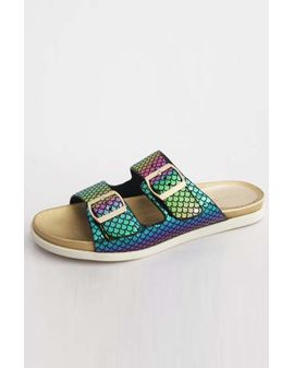 Buckle Strap Sandalar - Rainbow Mermaid
