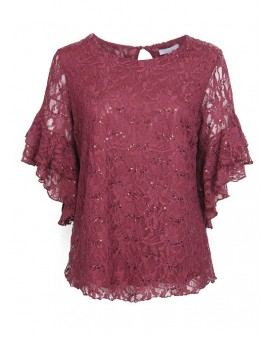 Senjorita TOP - Wine Glitter