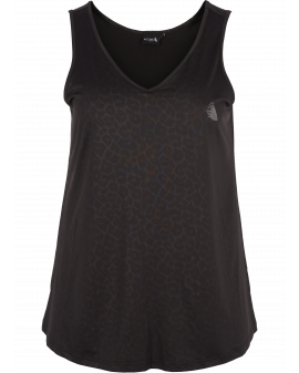 ZIZZI Black Leo Active Top