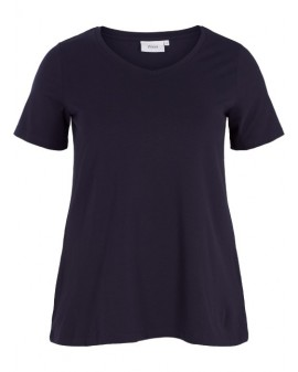 ZIZZI Basis T-shirt - NAVY blár