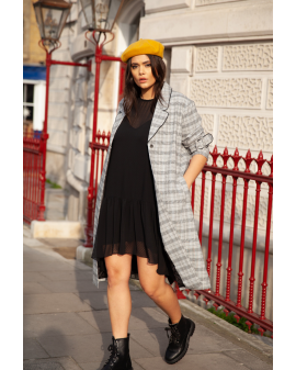 LOST INK Duster coat - Check