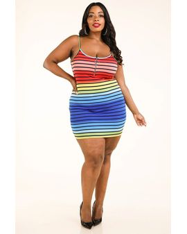 Rainbow cami dress