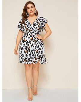 Light Leo Print Dress