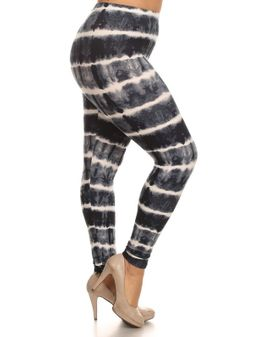 Soft Leggings Gráar TIE DYE
