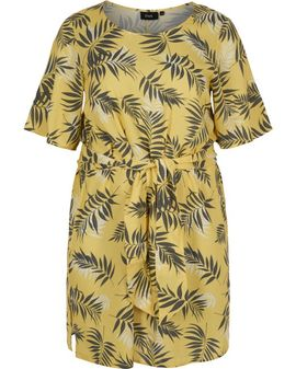 ZIZZI Yellow Palm Bow Tunic