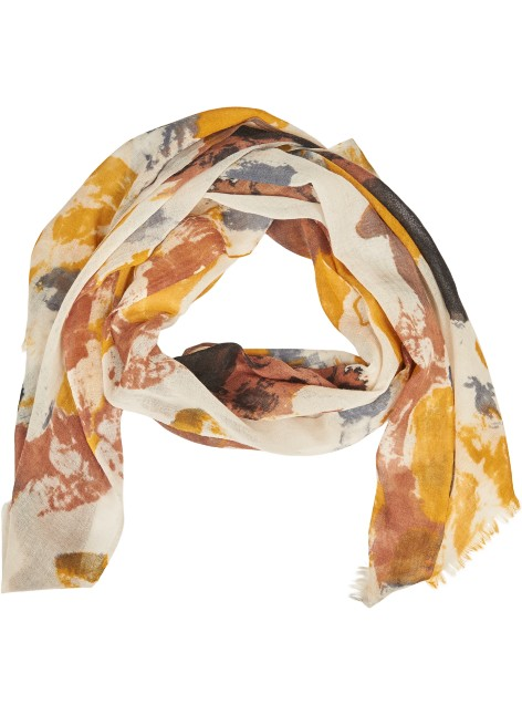 Yellow Watercolor Scarf
