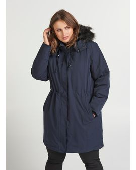ZIZZI Winter Coat - NAVY Blá