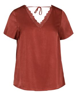 ZIZZI Bordaux V-lace top