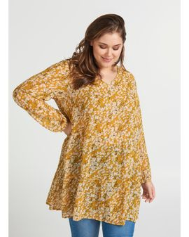 ZIZZI Marley Tunic - Yellow Flower