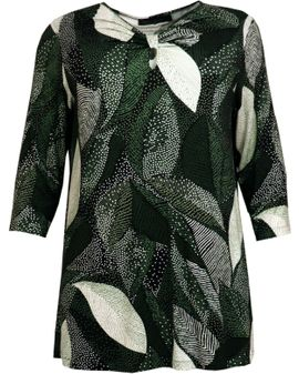 CASSIOPEIA BRIET Tunic - Green Leaves