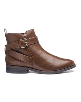 Extra Wide Fit Ankle Boots - Brown