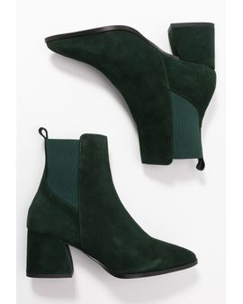 VeroMODA JOY Leather boots - Green