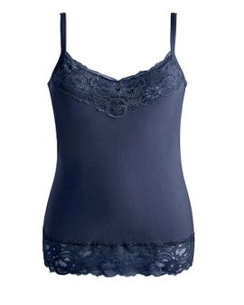 Joanna hope LACE top - NAVY blue