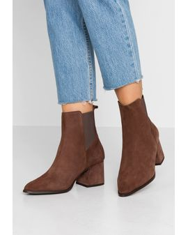 VeroMODA JOY Leather boots - Coffe