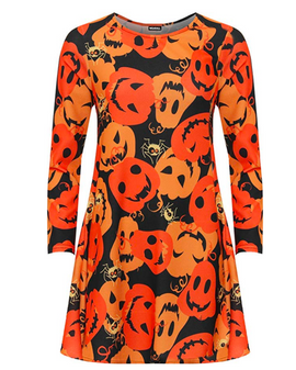 Pumpkin Print Tunic dress