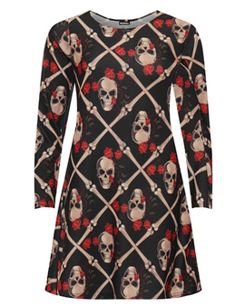 Roses and Bones Tunic dress