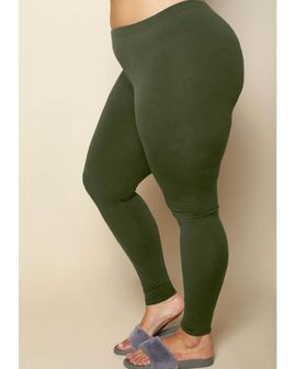 OLIVE GREEN soft leggings