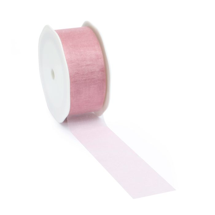 25mtr.VOILE Borði 38mm. Old Rose