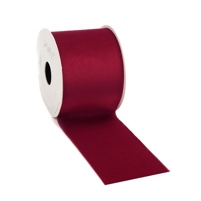 5mtr.VELVET Borði 70mm. Red  (3)