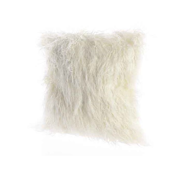 Decoris-Fur Púði White  45x45cm. (6)