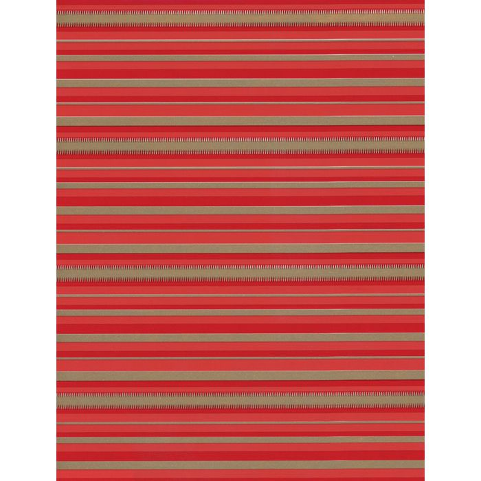250mtr.Umbúðar.Stripes Red/Gold 50cm.