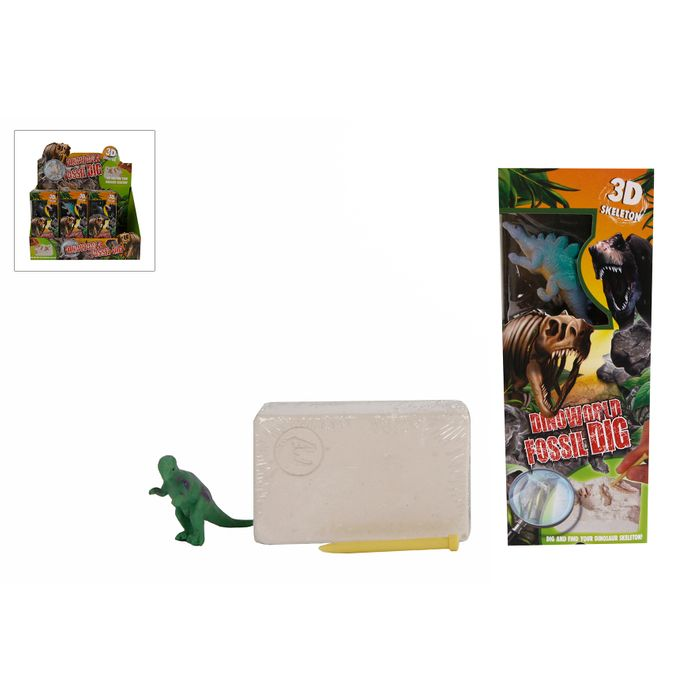 DinoWorld-Excavation kit 12teg. Disp-12