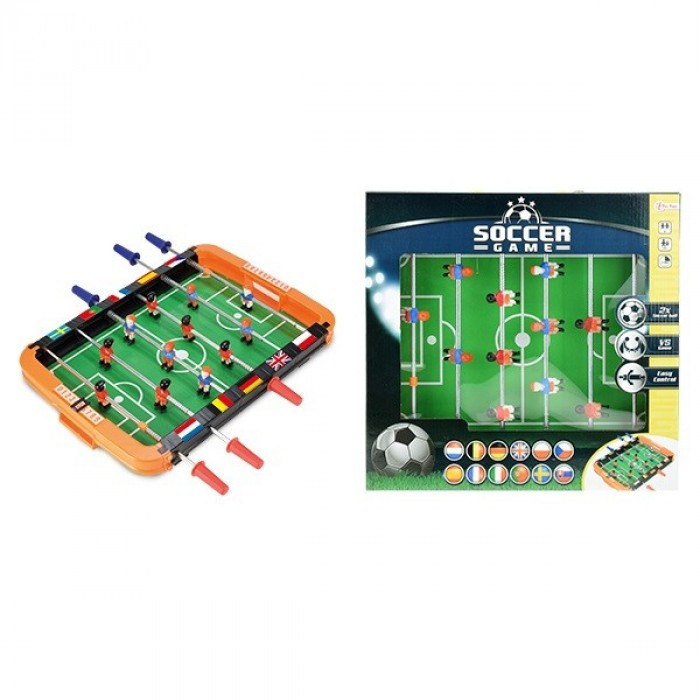 Table soccer game   37x37cm.  (6)