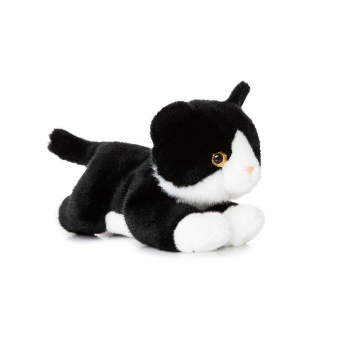 Flopsies - Black&White cat 28cm.