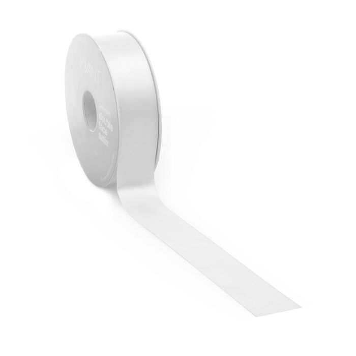 25mtr.Satin borði 25mm. White