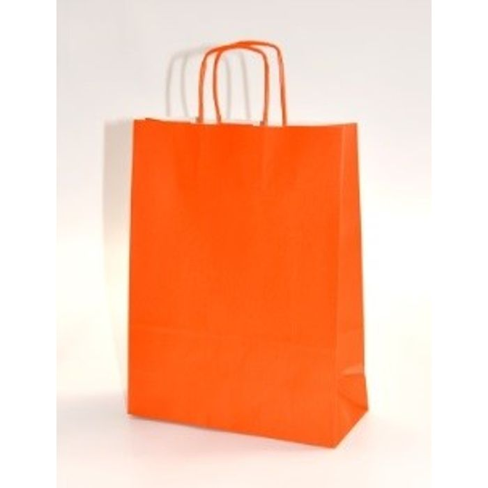 Gjafapoki-Shopper ORANGE 16x7x22cm.(25)