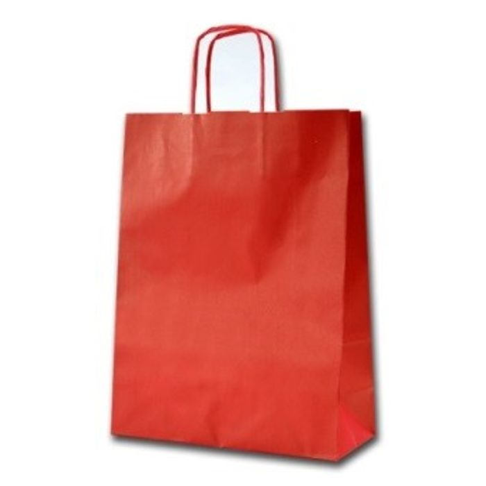 Gjafapoki-Shopper RED 24x10x31cm.(25)