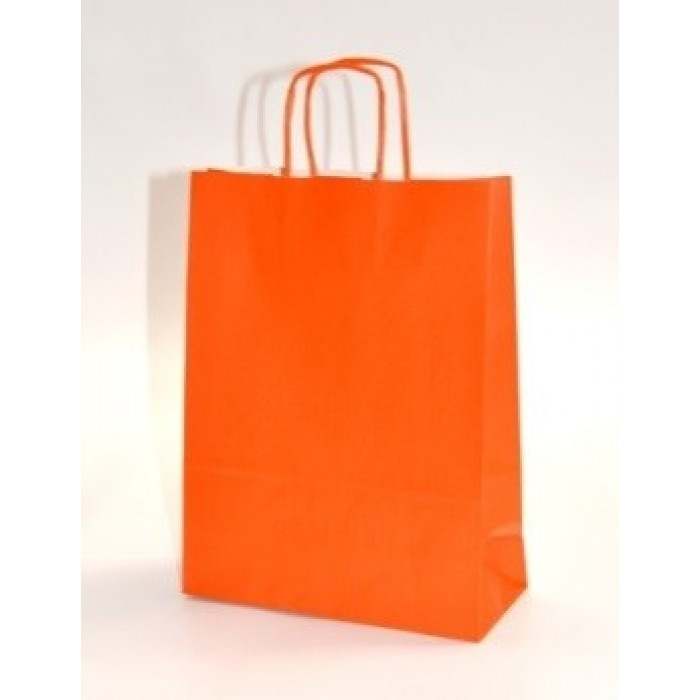 Gjafapoki-Shopper ORANGE 24x10x31cm.(25)