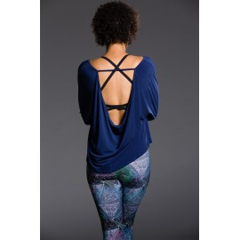 Onzie Scoop Back Sleeve Top Navy