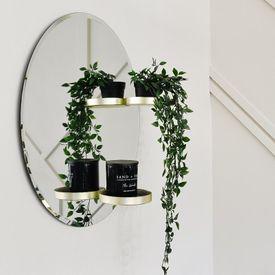 Umbra Perch Mirror Brass