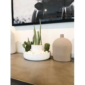 Umbra Ceramic Fountain Planter