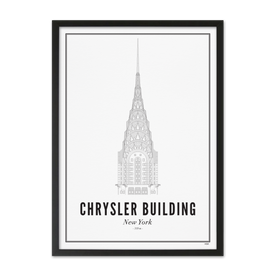 Wijck Chrysler Building- Plakat - 50 x 70