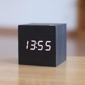 Present Time CUBE Alarm Black