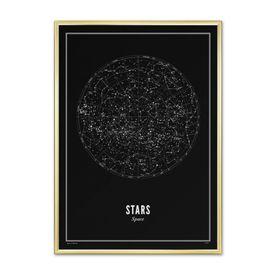 Wijck Stars Plakat Svart - 50 x 70