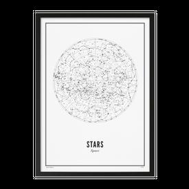 Wijck Stars Plakat Hvítt - 50 x 70