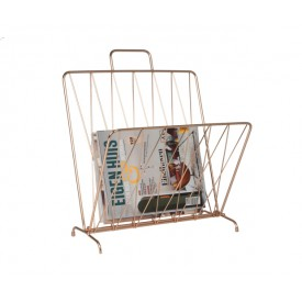 Present Time Magazine Rack Diamond Copper