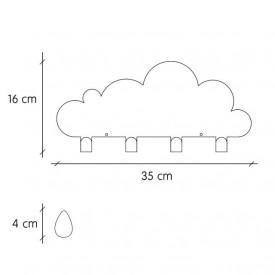Tresxics Big Cloud & 20 Raindrops Pink