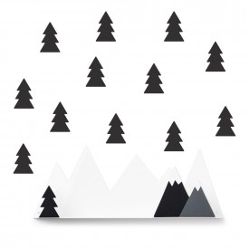 Tresxics Shelves Mountain + 12  stickers Black
