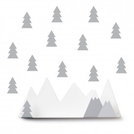 Tresxics Shelves Mountain + 12  stickers Grey