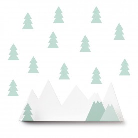 Tresxics Shelves Mountain + 12  stickers Mint