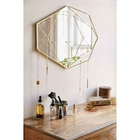 Umbra Prisma Mirror Brass