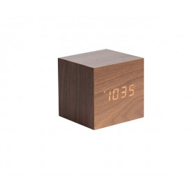 Present Time CUBE Alarm Dark Wood